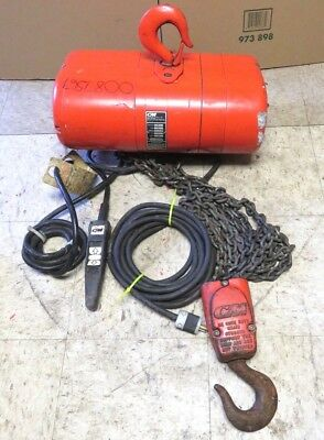 CM LODESTAR 2 TON. ELECTRIC HOIST MODEL R 8 F.P.M - 1 HP 14 Amp Model R