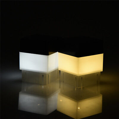 2W Solar LED Square Waterproof Light For Fence Post Pool Garden Outdoor Decor