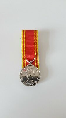 Fire Service LS&GC Miniature Medal Court Mounted