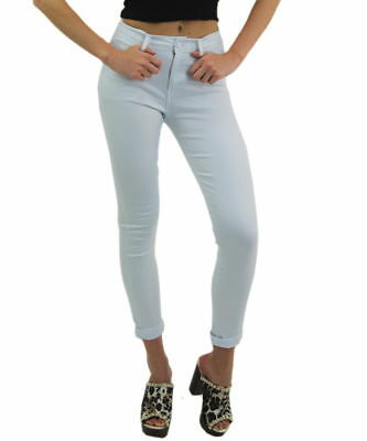 Girls Jeans Skinny Ladies Women's Fit Stretch Jeggings Trousers Denim Trousers