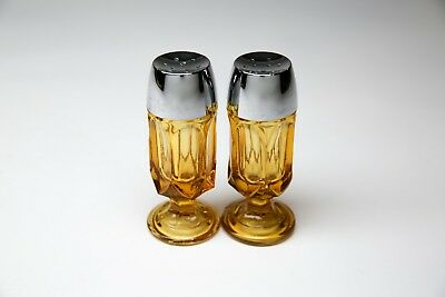 Amber Glass Salt and Pepper Shakers