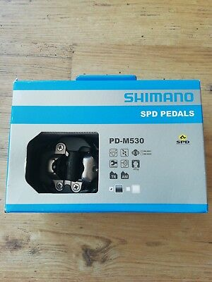 0e98d5ae4 Shimano PD-M530 MTB SPD Two-sided Mechanism Trail Bicycle Pedals in Black