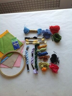 Embroidery Hoop And Treads Dmc Needles
