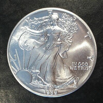 1989 Uncirculated American Silver Eagle US Mint Issue 1oz Pure Silver #G061