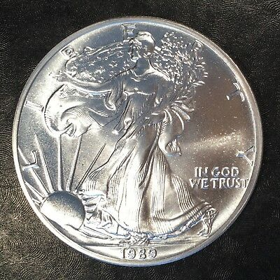1989 Uncirculated American Silver Eagle US Mint Issue 1oz Pure Silver #G065