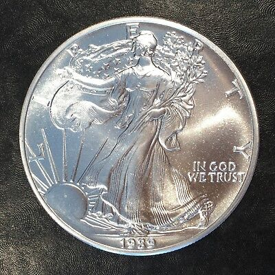 1989 Uncirculated American Silver Eagle US Mint Issue 1oz Pure Silver #G059