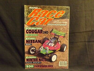 Radio Race Car International Magazine June 1990  Schumacher Cougar 2Wd.