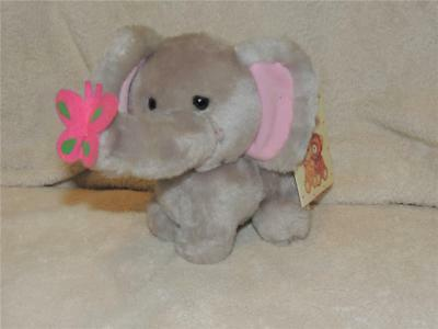 VINTAGE RUSS BERRIE LUV PETS FIFFY THE PLUSH ELEPHANT Flower on nose TAG