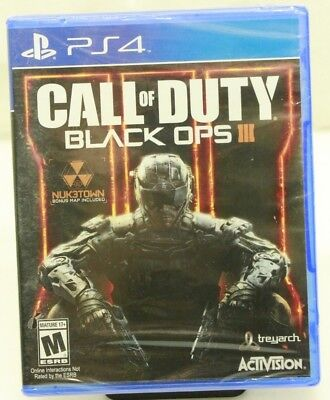 Call of Duty Black Ops 3 III PS4 PlayStation 4 - New SEALED - Free Shipping