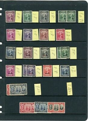 SARAWAK; 1938-40s early GVI issues useful small Mint STOCK LOT