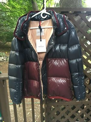 acf405670c0 Moncler Colorblocked Shiny Quilted Down Coat  New no Tags  Size 3- US Large