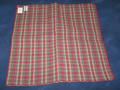 "Longaberger HOLIDAY PLAID Fabric Square 36"" - Tablecloth, Cover or ???"