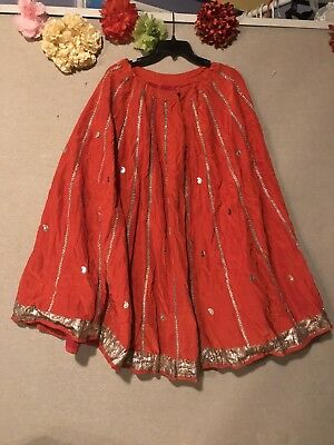 Belly Dance Skirt, Color Red (Collection India)