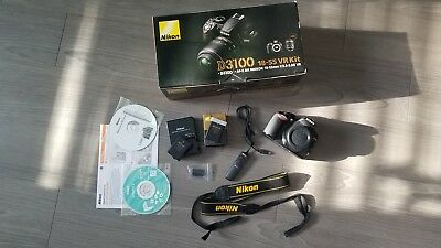 Nikon D3100 14.2MP Digital SLR Camera (Body Only + 2 Batteries + Remote Release)