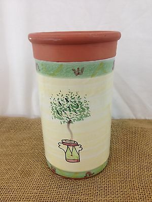 Terracotta Clay Earthenware Hand Painted Wine Bottle Cooler Holder Chiller