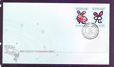 Christmas Island  2011  FDC, Year of the Rabbit.