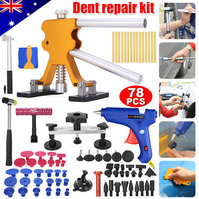 78× Paintless Hail Removal PDR Tools Dent Puller Lifter Line Board Auto Body Set