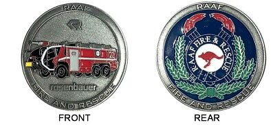 RAAF Fire and Rescue Panther Challenge Coin Coloured - 45mm