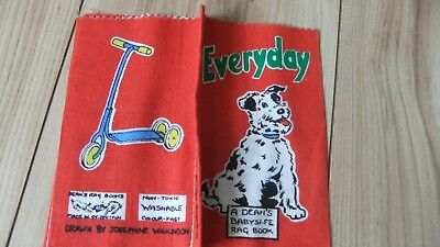 "Vintage ""everyday"" Deans Rag Cloth Book Vintage Baby Safe Fabric Books"