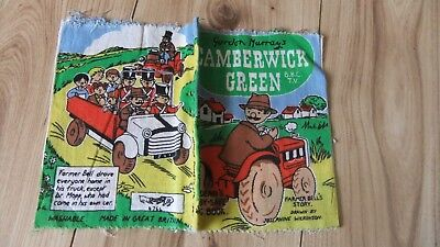 Vintage Camberwick Green Deans Rag Cloth Book Vintage Baby Safe Fabric Books