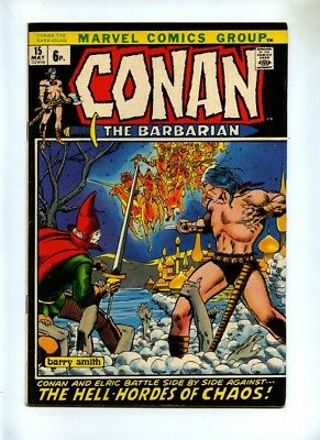 Conan the Barbarian #15 - Marvel 1972 - FN - Pence - Elric App