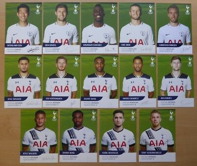 Tottenham Hotspur Signed Official Club Cards 1998 - 2018 All Seasons - UPDATED