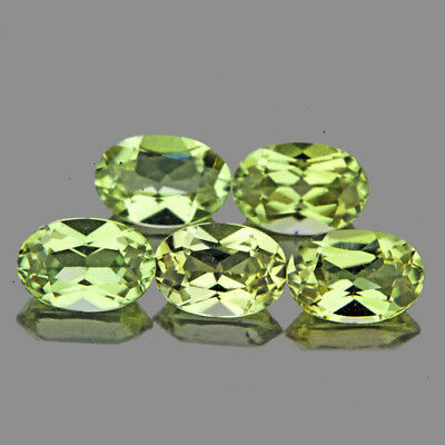 5.2x3.8mm OVAL 5 PIECES COLOR CHANGE GOLDEN GREEN DIASPORE NATURAL GEMSTONE IF