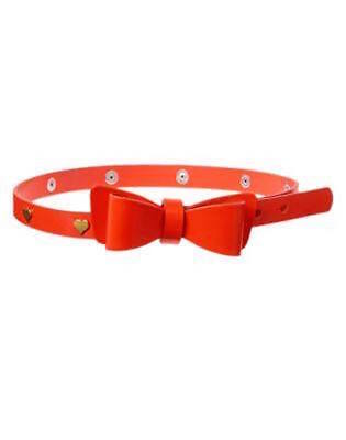 Nwt Gymboree Prep Perfect Belt With Heart Studs and Bow XS(4)/M(7-8)