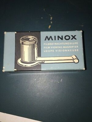 Vintage Minox Subminiature Film Viewing Magnifier Loupe Germany w Original Box