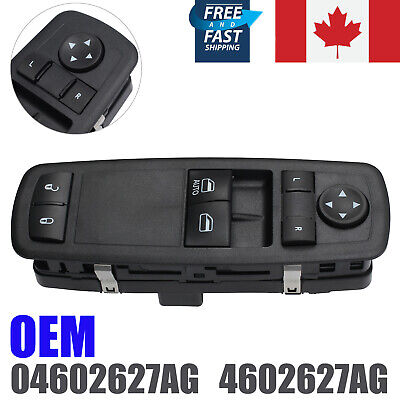 Power Window Switch Driver Side For Dodge Grand Caravan OEM 04602627AG NEW CA