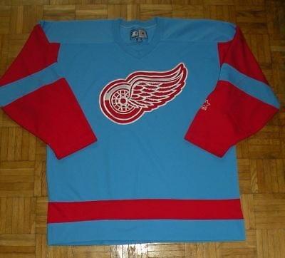 "Detroit Red Wings Vintage Starter Ice Hockey Shirt ""M"" Nike Jersey NHL"
