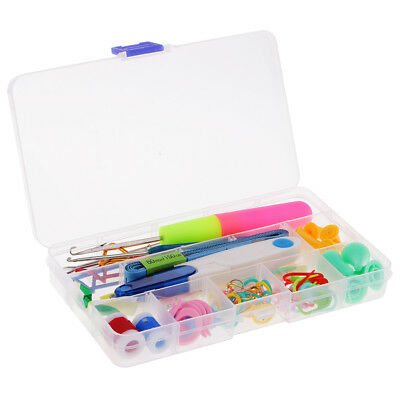 80pcs Basic Knitting Tools Accessories Latch Hook Crochet Needle with Case