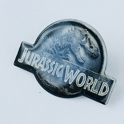 """JURASSIC WORLD Official Logo Pins in Japan 2015 """"Not For Sale Item"""""""