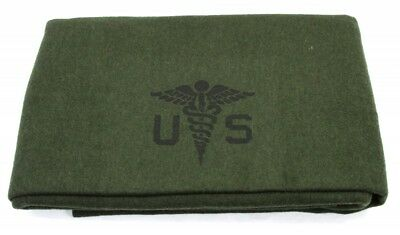 "U.S. Army Medical Wool Blanket - 80% Wool - 60"" x 84"" - Free Shipping"