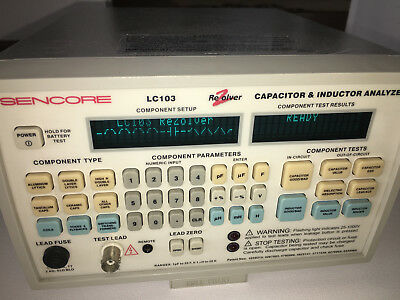 Sencore LC103 LC-103 Rezolver Capacitor Inductor Analyzer FREE SHIPPING!