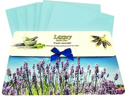 Original Fresh Lavender Scented Luxury Drawer Liners     Ideal thank you Gift