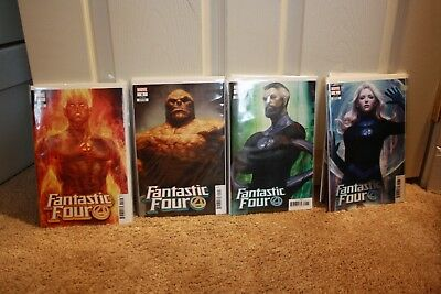 Fantastic Four #1 2018 Set of 4 Artgerm Cover Marvel Comic Book unread