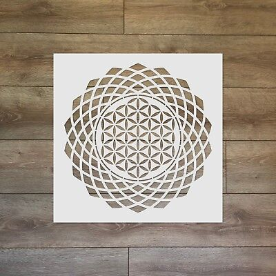 The Flower of Life Torus - Sacred Geometry Reusable Plastic Stencil