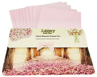 Original Cherry Blossom & Sweet Pea Scented Luxury Drawer Liners Ideal gift