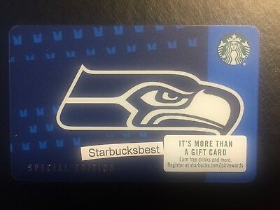 2018 Starbucks SEATTLE SEAHAWKS Gift Card Limited Edition.