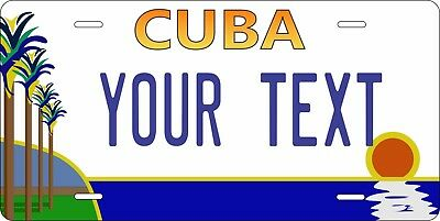 Cuba Palm Custom Personalized Vehicle Car Auto Motorcycle Bike License Plate