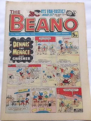 DC Thompson THE BEANO Comic. Issue 1883 August 19th 1978 **Free UK Postage**
