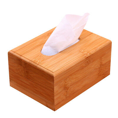 Large Home Room Car Hotel Tissue Box Wooden Bamboo Box Paper Napkin Holder Case