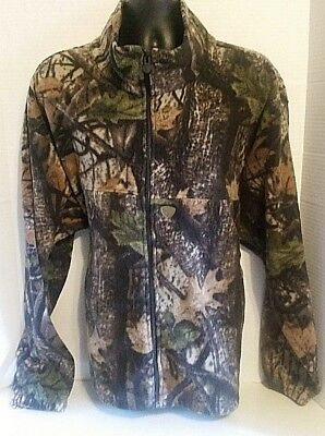 d9d3a4cb8a0a0 Wood N' Trail Camouflage Fleece Jacket Mens Size 2XL Zippered Hunting Coat