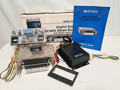 NOS MIDLAND Int. DIGITAL TUNING AM/FM/MPX CAR RADIO W/ QUARTS CRYSTAL CLOCK 1978