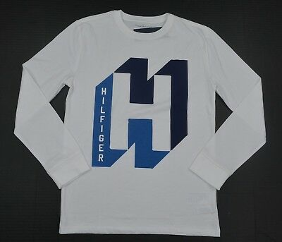 NWT Boy's / Youth Tommy Hilfiger Long-Sleeve Tee (T) Shirt White S M XL