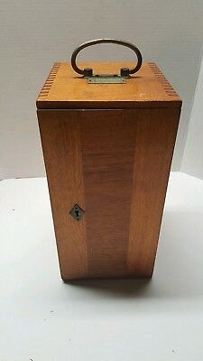 Antique E. Leitz Wetzlar Mahogany Microscope  Case