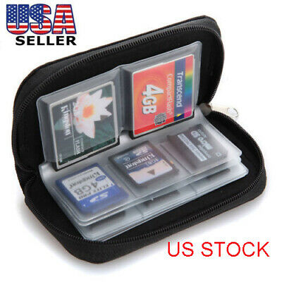 US SD SDHC MMC CF Micro SD Memory Card Storage Carrying Pouch Case Holder Wallet