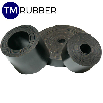 Insertion Rubber Strips 50 Mm Wide X 1.5 Mm Thick 10 Metre Roll Free Post!