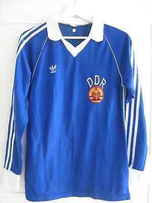 7e2f2675bed SOCCER GDR Vintage Adidas DDR East-Germany Football Shirt Jersey TRIKOT  80 S M